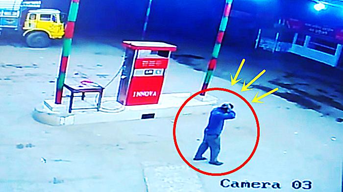 海外加油站,司机等加油,突然监控拍到这一画面!