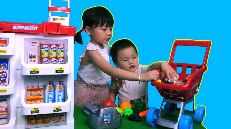 超市购物车玩具,宝宝过家家超市收银机玩具