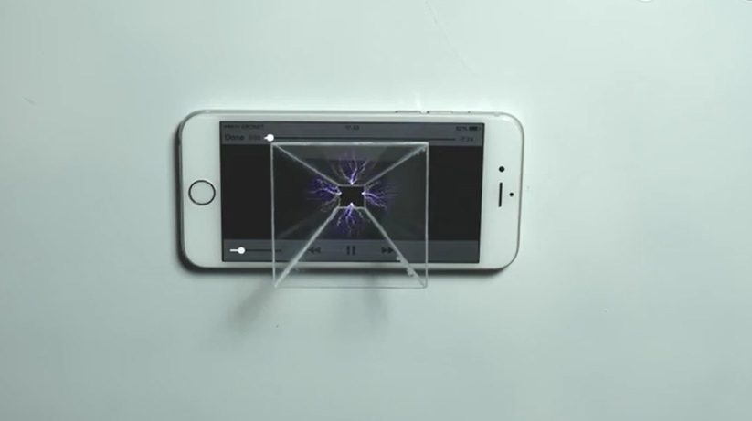 最新科学原理,让你的手机也能变成全息投影!