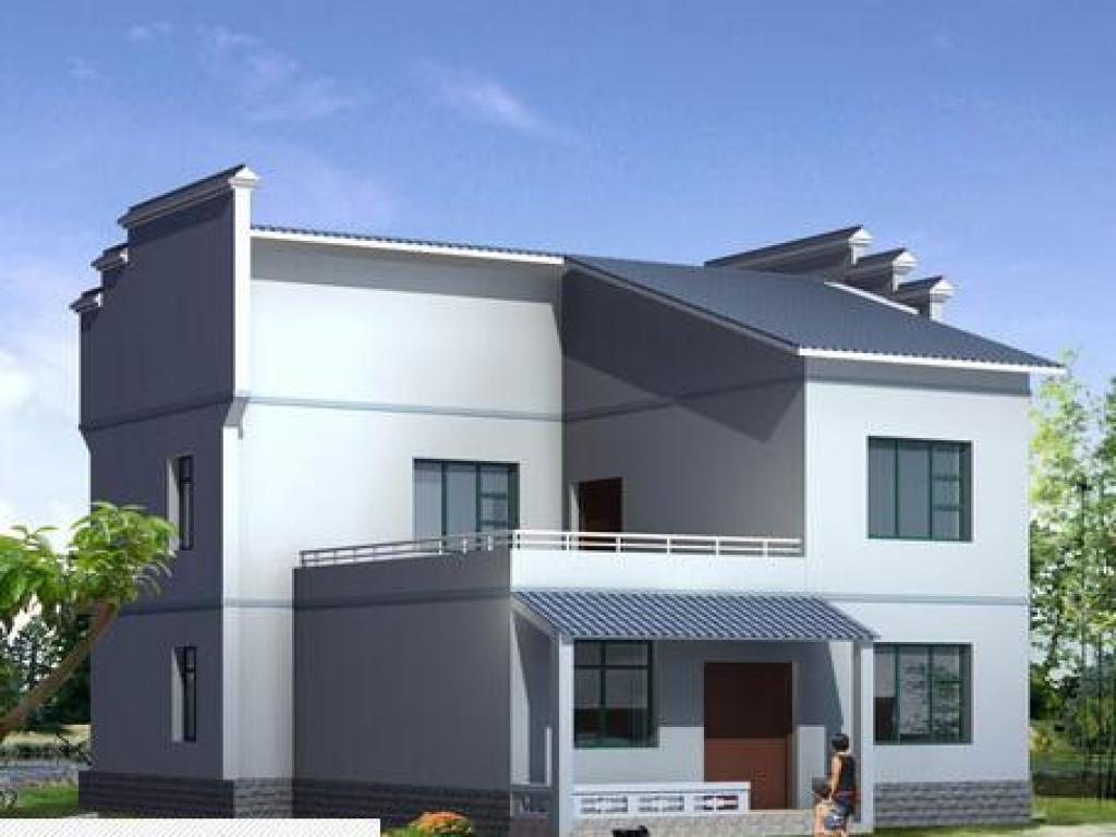 二层新农村房屋设计图 总建筑面积:213.30