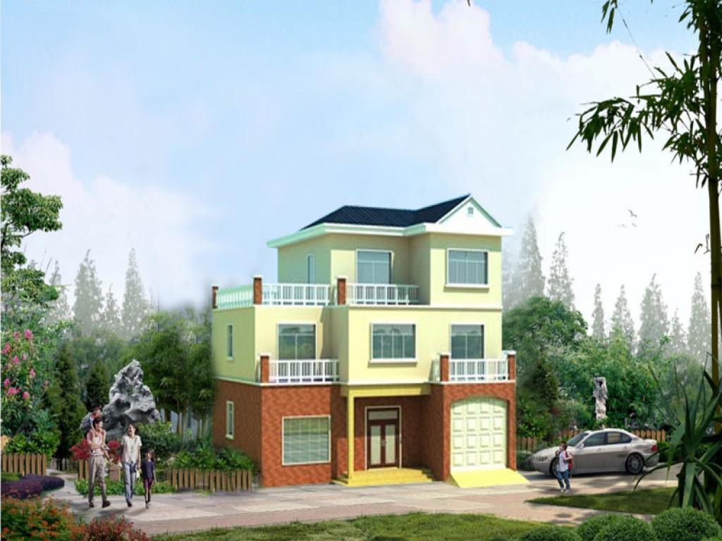 农村三层独栋别墅全套施工图(建筑 结构)(含效果图)参考造价27.68万元
