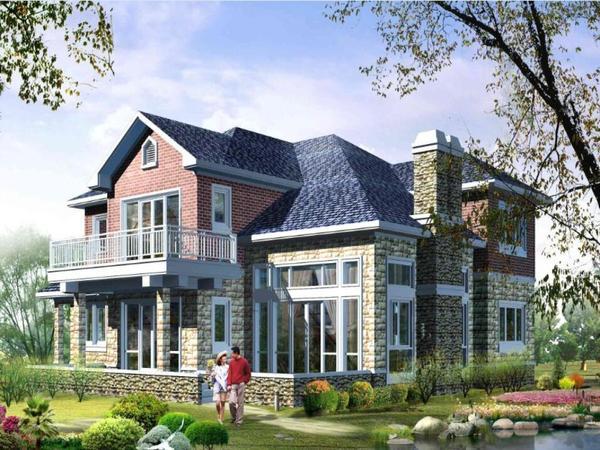2層農村別墅設計圖 自建房設計圖圖紙 帶效果圖